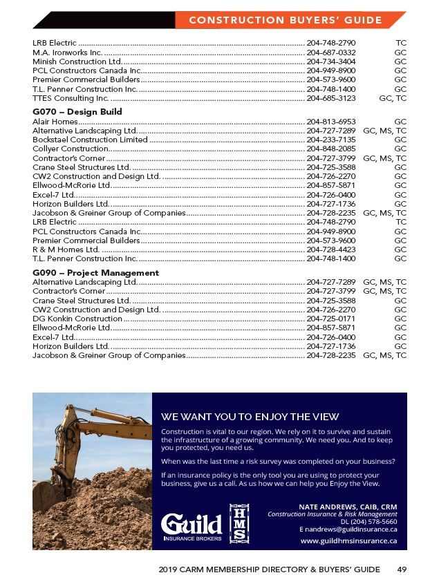 CARM - 2019 Membership Direcotry & Buyers' Guide - Page 55